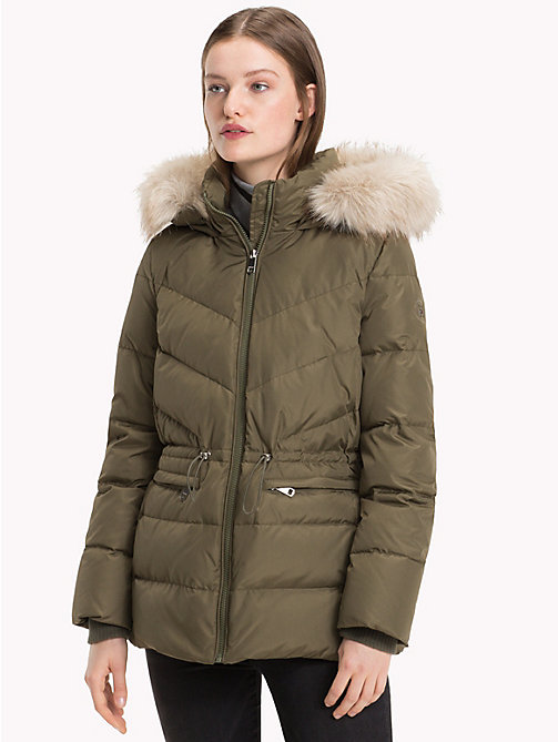 TOMMY HILFIGER Down Jacket - OLIVE NIGHT - TOMMY HILFIGER Sustainable Evolution - main image