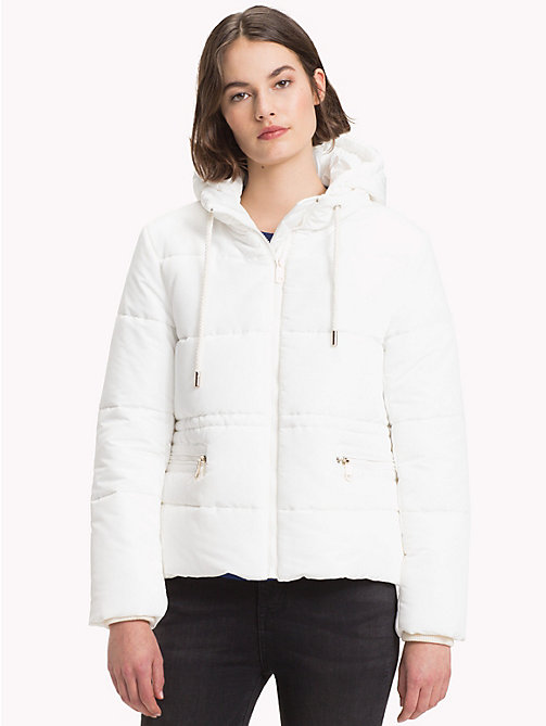 TOMMY HILFIGER Recycled Short Hooded Parka - SNOW WHITE -  Sustainable Evolution - main image