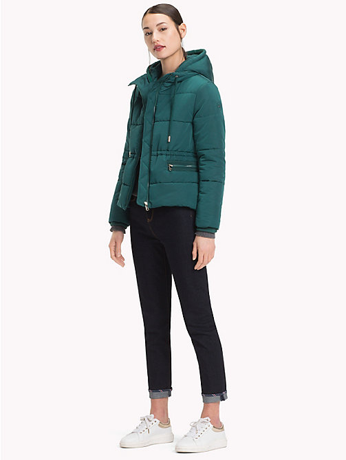TOMMY HILFIGER Kurzer Parka mit Kapuze - JUNE BUG - TOMMY HILFIGER Sustainable Evolution - main image 1