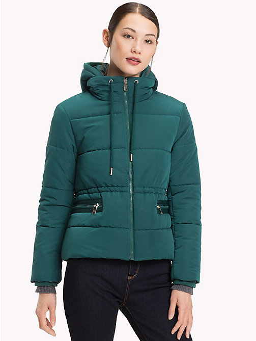 TOMMY HILFIGER Recycled Short Hooded Parka - JUNE BUG -  Sustainable Evolution - main image