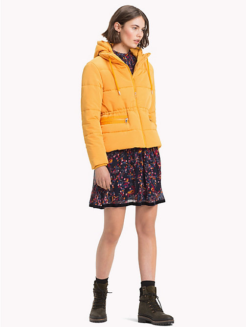 TOMMY HILFIGER Recycled Short Hooded Parka - SUNFLOWER - TOMMY HILFIGER Sustainable Evolution - detail image 1