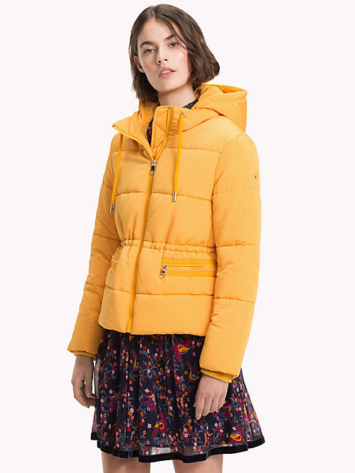 TOMMY HILFIGER Recycled Short Hooded Parka - SUNFLOWER - TOMMY HILFIGER Sustainable Evolution - main image