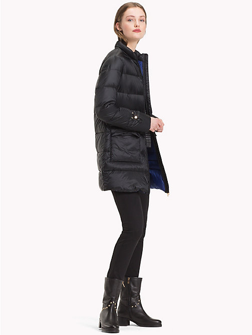 TOMMY HILFIGER Packable Puffer Coat - BLACK BEAUTY - TOMMY HILFIGER Sustainable Evolution - detail image 1