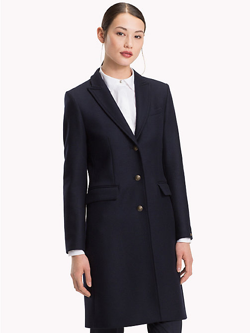 TOMMY HILFIGER Classic Wool Coat - MIDNIGHT - TOMMY HILFIGER Coats - main image