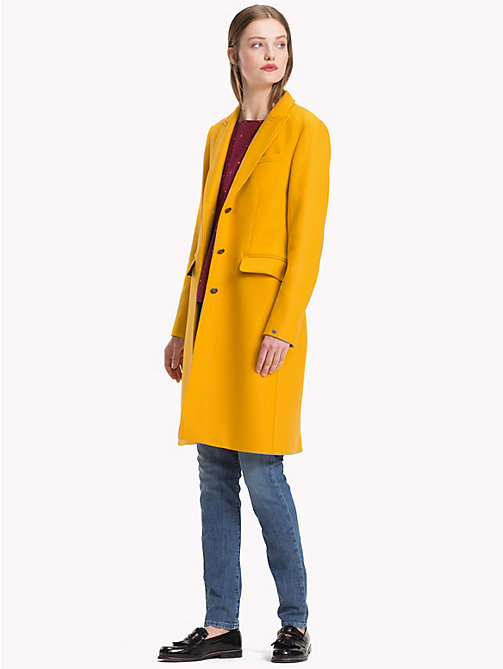 TOMMY HILFIGER Classic Wool Coat - SUNFLOWER - TOMMY HILFIGER Coats - detail image 1