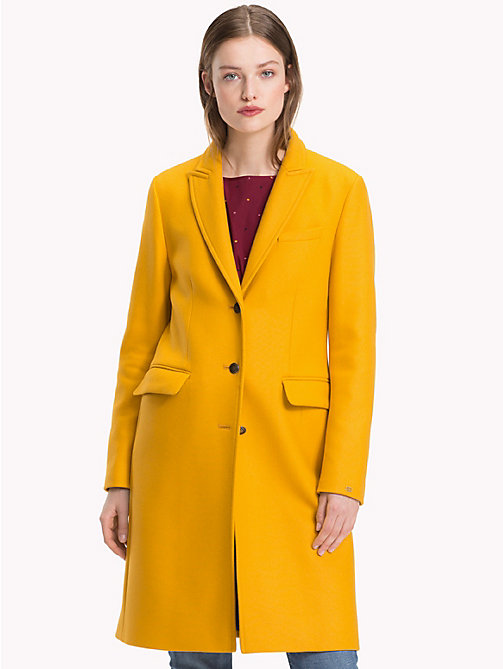 TOMMY HILFIGER Classic Wool Coat - SUNFLOWER - TOMMY HILFIGER NEW IN - main image