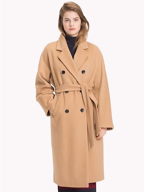 TOMMY HILFIGER Tommy Icons Swagger Coat - CLASSIC CAMEL - TOMMY HILFIGER Coats & Jackets - main image