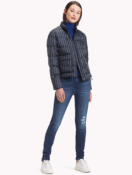 TOMMY HILFIGER Packable Puffer Jacket - PINSTRIPE CW / SKY CAPTAIN - TOMMY HILFIGER Coats & Jackets - detail image 1