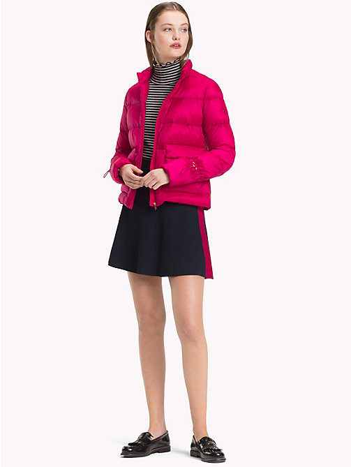 TOMMY HILFIGER Packable Puffer Jacket - CERISE - TOMMY HILFIGER Sustainable Evolution - detail image 1