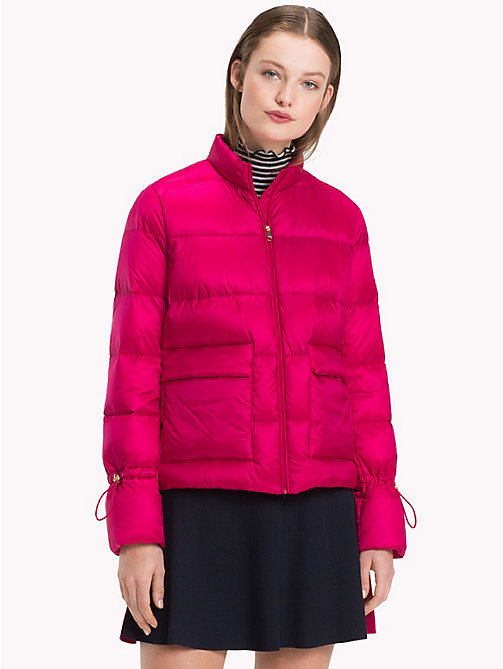 TOMMY HILFIGER Packable Puffer Jacket - CERISE -  Sustainable Evolution - main image