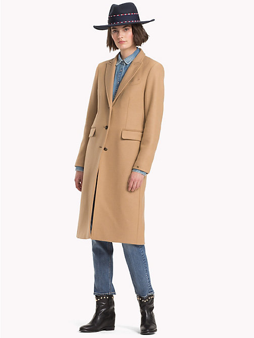 TOMMY HILFIGER Wool Cashmere Long Coat - CLASSIC CAMEL - TOMMY HILFIGER Coats - detail image 1
