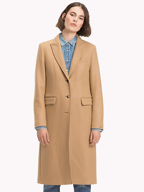 TOMMY HILFIGER Wool Cashmere Long Coat - CLASSIC CAMEL - TOMMY HILFIGER Coats - main image