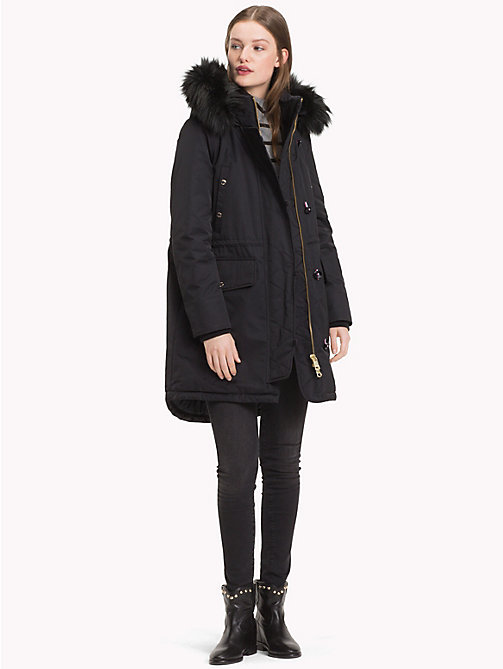 TOMMY HILFIGER Padded Parka - BLACK BEAUTY - TOMMY HILFIGER Parka Coats - detail image 1