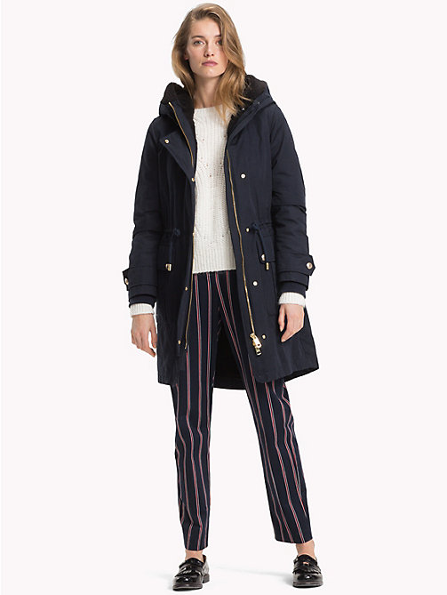 TOMMY HILFIGER 2-in-1 Long Parka - MIDNIGHT - TOMMY HILFIGER Coats - detail image 1