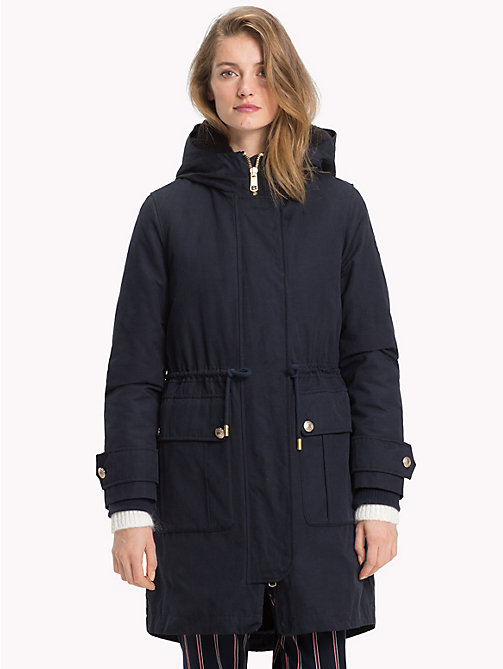 TOMMY HILFIGER 2-in-1 Long Parka - MIDNIGHT - TOMMY HILFIGER Black Friday Women - main image