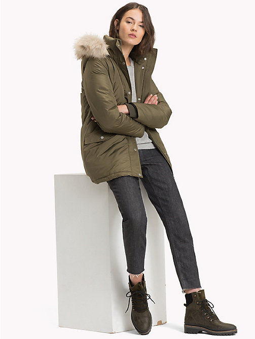 TOMMY HILFIGER Piumino parka - OLIVE NIGHT - TOMMY HILFIGER Sustainable Evolution - dettaglio immagine 1
