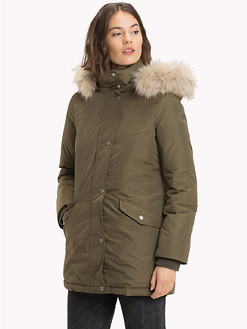 TOMMY HILFIGER Parka en duvet - OLIVE NIGHT - TOMMY HILFIGER Sustainable Evolution - image principale