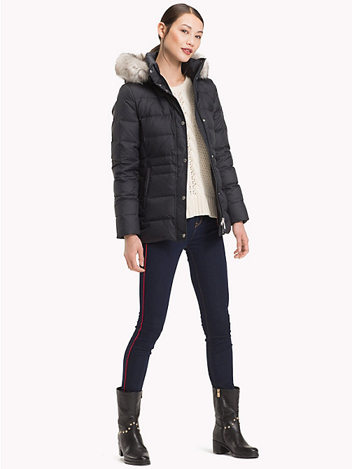 TOMMY HILFIGER Padded Down Jacket - BLACK BEAUTY - TOMMY HILFIGER Sustainable Evolution - detail image 1