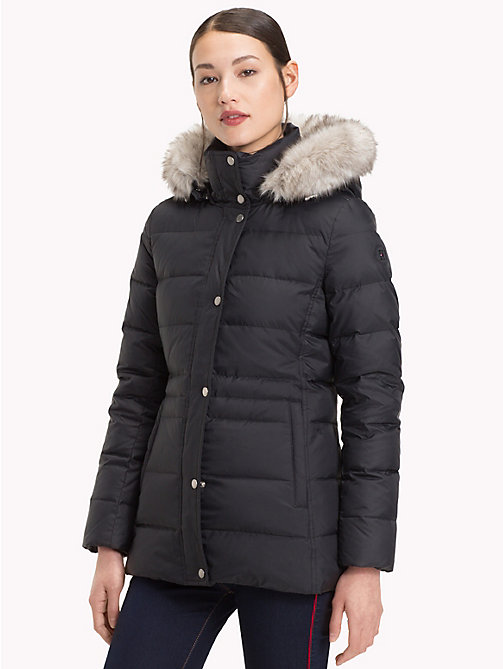 TOMMY HILFIGER Padded Down Jacket - BLACK BEAUTY - TOMMY HILFIGER Sustainable Evolution - main image