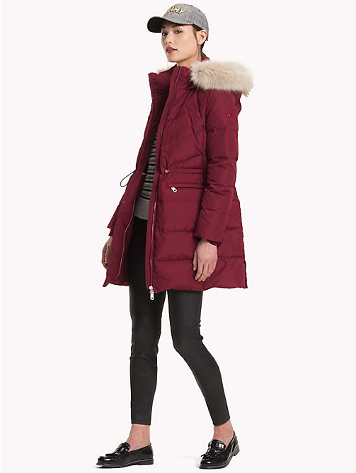 TOMMY HILFIGER Down Coat - CABERNET - TOMMY HILFIGER Sustainable Evolution - detail image 1