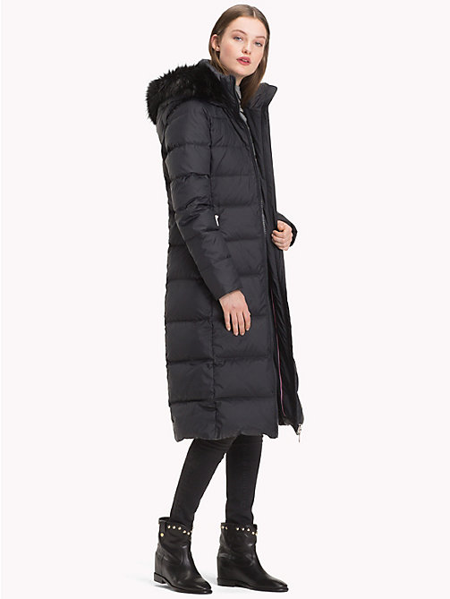 TOMMY HILFIGER Fitted Maxi Coat - BLACK BEAUTY - TOMMY HILFIGER Coats - detail image 1