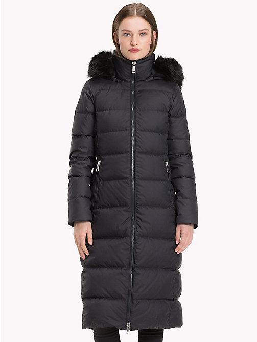 TOMMY HILFIGER Fitted Maxi Coat - BLACK BEAUTY - TOMMY HILFIGER Sustainable Evolution - main image