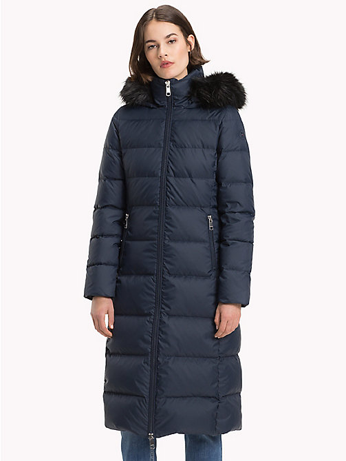 TOMMY HILFIGER Fitted Maxi Coat - MIDNIGHT - TOMMY HILFIGER Sustainable Evolution - main image