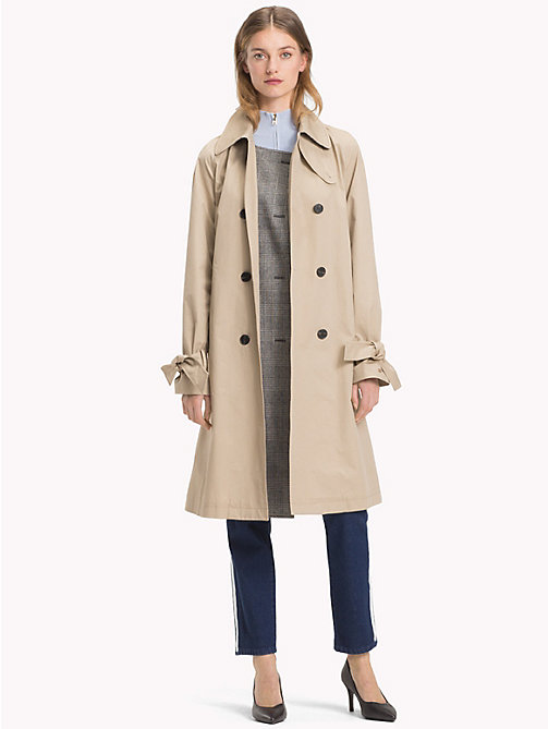 TOMMY HILFIGER Check Stripe Trench Coat - CLASSIC CAMEL - TOMMY HILFIGER Women - detail image 1