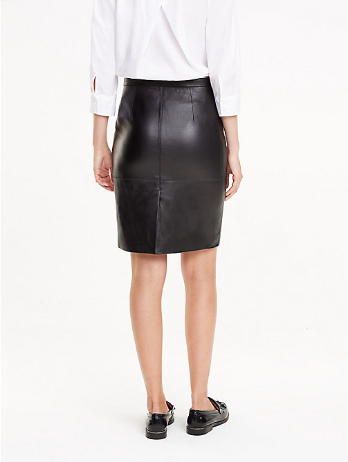 TOMMY HILFIGER Leather Pencil Skirt - BLACK BEAUTY - TOMMY HILFIGER Dresses & Skirts - detail image 1
