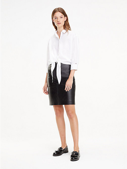 TOMMY HILFIGER Leather Pencil Skirt - BLACK BEAUTY - TOMMY HILFIGER Dresses & Skirts - main image