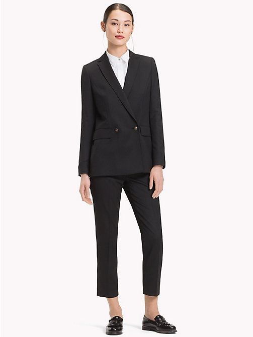 TOMMY HILFIGER Double-Breasted Wool Blazer - BLACK BEAUTY - TOMMY HILFIGER Clothing - detail image 1