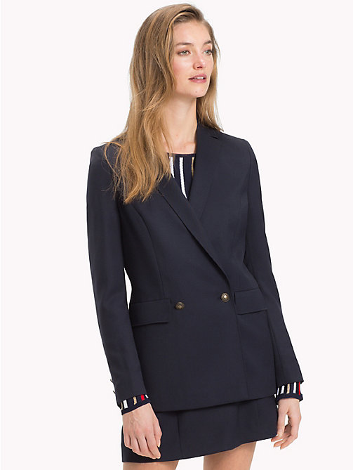 TOMMY HILFIGER Zweireihiger Wollblazer - MIDNIGHT - TOMMY HILFIGER NEW IN - main image