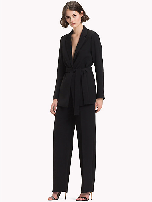 TOMMY HILFIGER Belted Crepe Blazer - BLACK BEAUTY - TOMMY HILFIGER TOMMY NOW - detail image 1