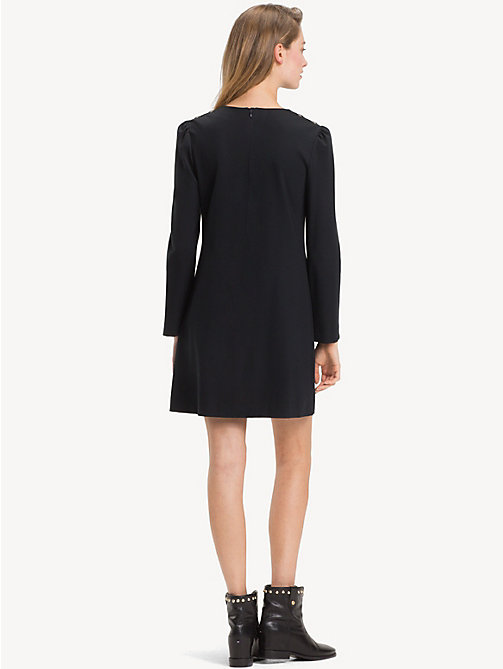 TOMMY HILFIGER Long Sleeve Dress - BLACK BEAUTY -  Mini - detail image 1