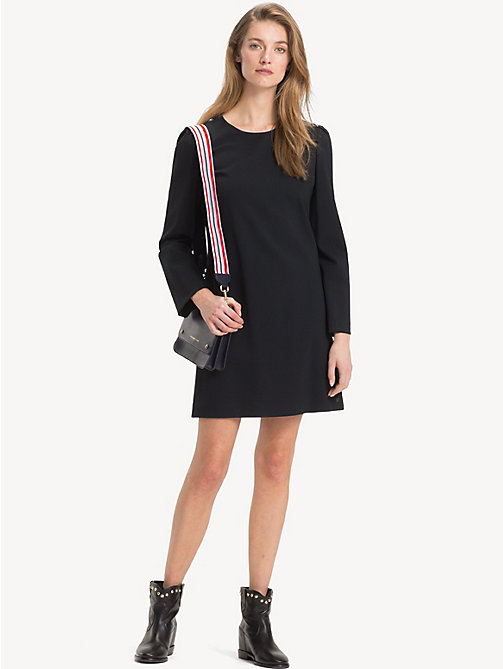 TOMMY HILFIGER Long Sleeve Dress - BLACK BEAUTY -  Mini - main image