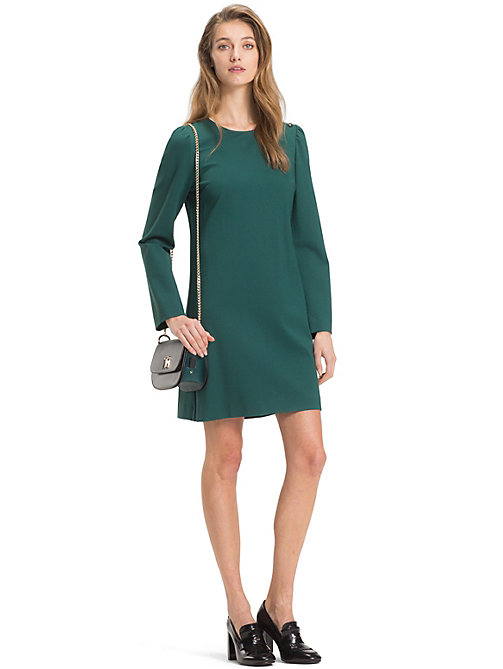 TOMMY HILFIGER Long Sleeve Dress - JUNE BUG - TOMMY HILFIGER Mini - main image