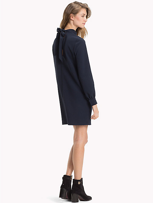 TOMMY HILFIGER Balloon Sleeve Crepe Dress - MIDNIGHT - TOMMY HILFIGER Mini - detail image 1