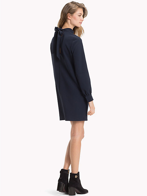 TOMMY HILFIGER Balloon Sleeve Crepe Dress - MIDNIGHT - TOMMY HILFIGER Dresses & Skirts - detail image 1