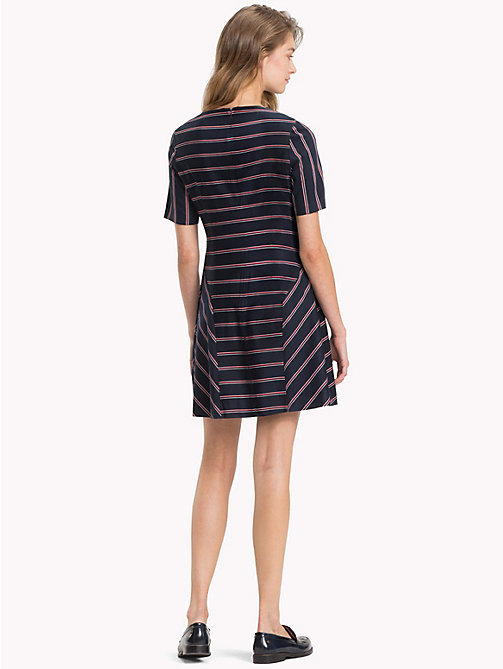 TOMMY HILFIGER Contrast Stripe Dress - THIN BLAZER STP / SKY CAPTAIN - TOMMY HILFIGER Dresses & Skirts - detail image 1
