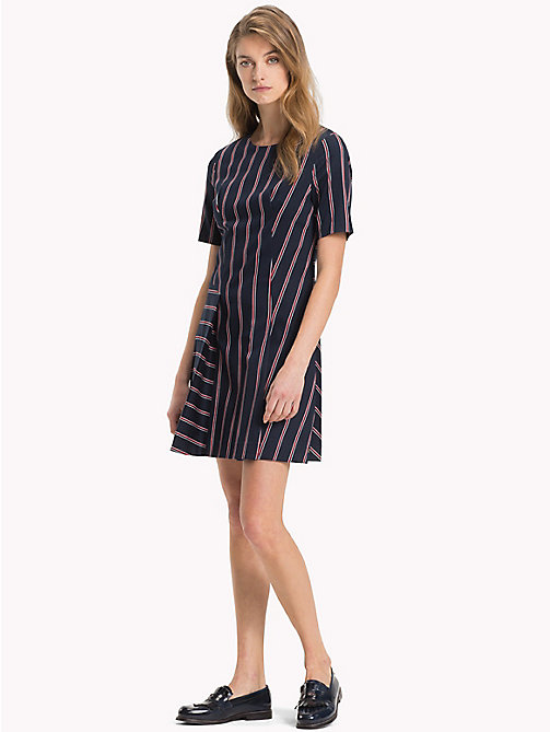 TOMMY HILFIGER Contrast Stripe Dress - THIN BLAZER STP / SKY CAPTAIN - TOMMY HILFIGER Mini - main image