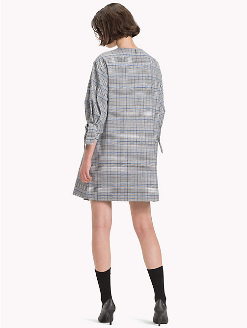 TOMMY HILFIGER Check Three-Quarter Sleeve Dress - PRINCE OF WALES POP - TOMMY HILFIGER Trending - detail image 1