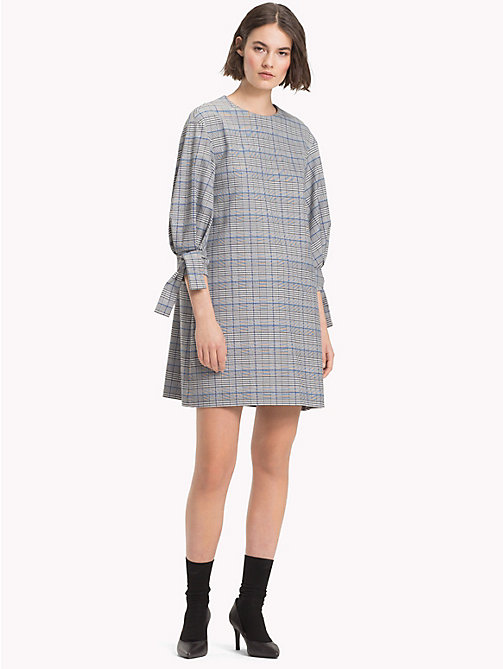 TOMMY HILFIGER Check Three-Quarter Sleeve Dress - PRINCE OF WALES POP - TOMMY HILFIGER Mini - main image