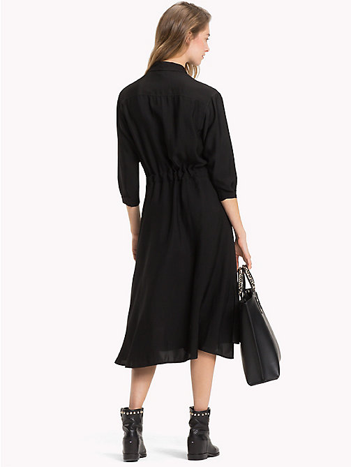 TOMMY HILFIGER Hemdkleid mit Bindeband in der Taille - BLACK BEAUTY - TOMMY HILFIGER Midi - main image 1