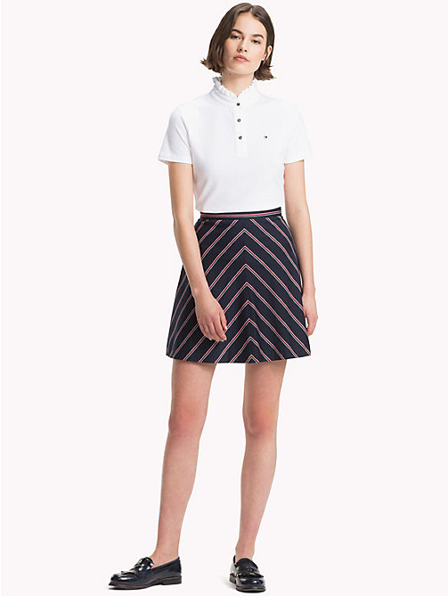 TOMMY HILFIGER Striped Flared Skirt - THIN BLAZER STP / SKY CAPTAIN - TOMMY HILFIGER Skirts - main image