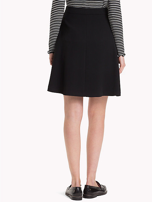 TOMMY HILFIGER Belted Wrap Mini Skirt - BLACK BEAUTY - TOMMY HILFIGER The Office Edit - detail image 1