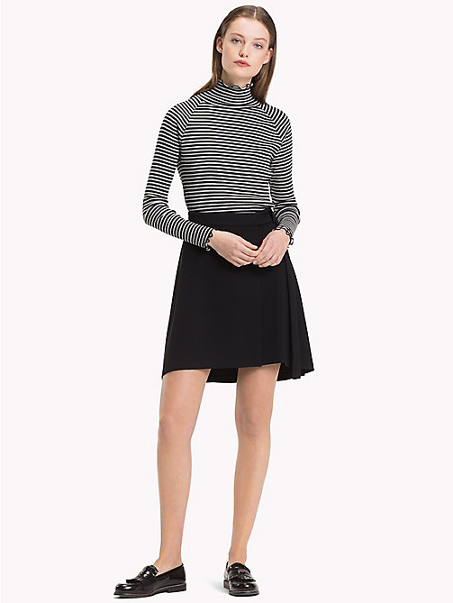 TOMMY HILFIGER Belted Wrap Mini Skirt - BLACK BEAUTY - TOMMY HILFIGER The Office Edit - main image