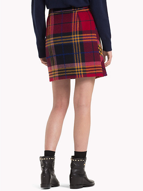 TOMMY HILFIGER Plaid Check Wrap Skirt - PICNIC CHK / SKY CAPTAIN - TOMMY HILFIGER Dresses & Skirts - detail image 1