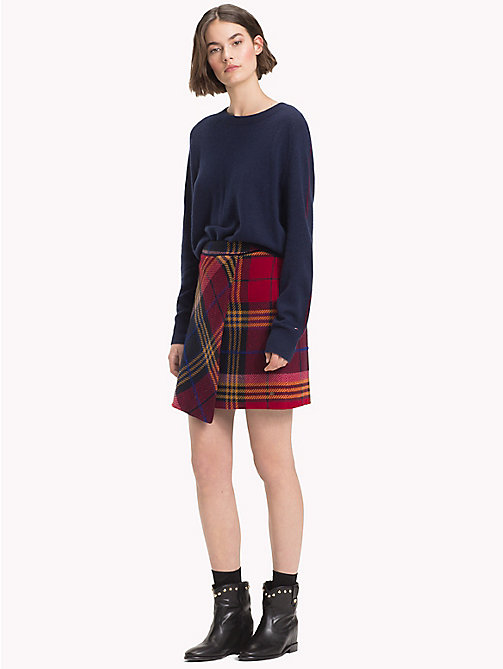 TOMMY HILFIGER Plaid Check Wrap Skirt - PICNIC CHK / SKY CAPTAIN - TOMMY HILFIGER Dresses & Skirts - main image