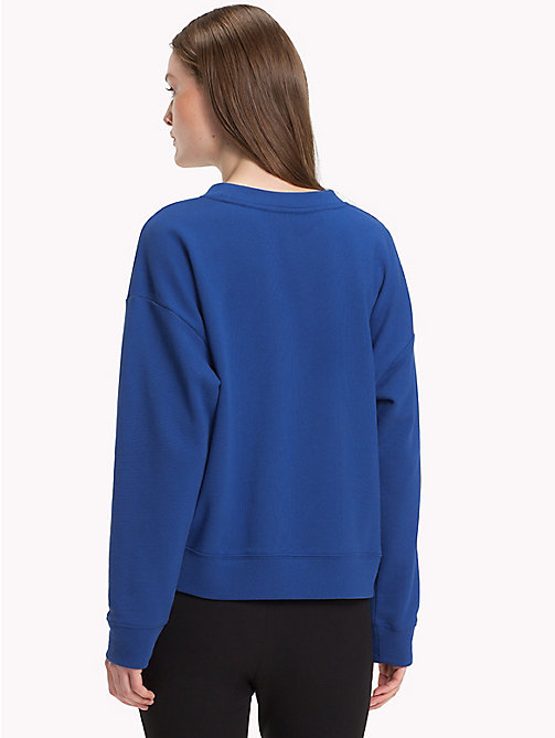 TOMMY HILFIGER Tape Detail Relaxed Fit Sweatshirt - MAZARINE BLUE - TOMMY HILFIGER Clothing - detail image 1