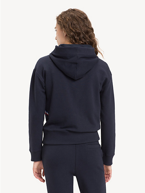 TOMMY HILFIGER Relaxed Fit Logo Tape Hoody - MIDNIGHT - TOMMY HILFIGER Hoodies - detail image 1